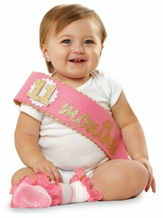 Mud Pie Baby-Girls Felt Monthly Milestone Sash  - sold out