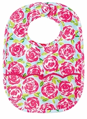 Mud Pie Baby Girls Floral Laminated Bib : Wipe Away