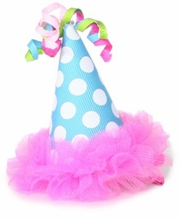Mud Pie Baby-Girls Infant Chiffon Party Hat Clip - Out of Stock