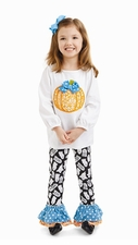 Mud Pie Baby-Girls Infant Pumpkin Pant Set