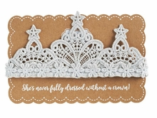Mud Pie Baby Girls Lace Crown Headband - Choose Color