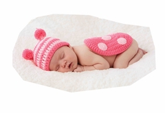 Mud Pie Baby Girls Ladybug Hat Set