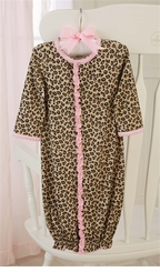 Mud Pie Baby Girls Leopard Gown - sold out