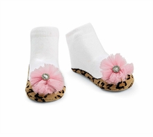 Mud Pie Baby Girls Leopard Mary Jane Socks - sold out