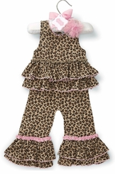 Mud Pie Baby Girls Leopard Romper - Baby One Piece - sold out