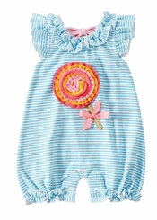 Mud Pie Baby Girls Lollipop Stripe Bubble - sold out