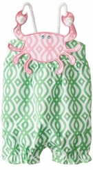Mud Pie Baby-Girls Newborn Crab Rope Bubble Romper - sold out
