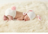 Mud Pie Baby-Girls Newborn Easter Photo Bunny Set