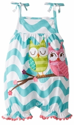 Mud Pie Baby Girls Owl Bubble One Piece - SOLD OUT