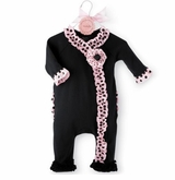 Mud Pie Baby Girls Perfectly Princess Ruffle Footed Sleeper