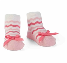 Mud Pie Baby Girls Pink Ric-Rac Sock - Baby Girls Socks