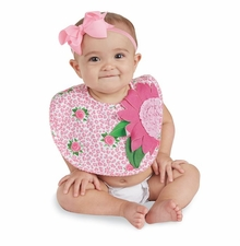 Mud Pie Baby Girls Rose Bib