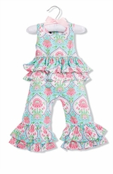 Mud Pie Baby Girls Ruffle Sunsuit Romper - SOLD OUT