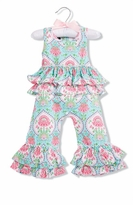 Mud Pie Baby Girls Ruffle Sunsuit Romper