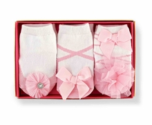 Mud Pie Baby Girls Tulle Puff Socks Set - 3 pair - sold out