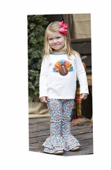 Mud Pie Baby Girls Turkey Tunic & Legging Set