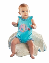 Mud Pie Baby-Infant Girl's Fish Crawler One Piece