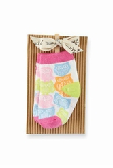 Mud Pie Baby- Infant Girl's Pink Multi Owl Socks - SOLD OUT