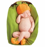 Mud Pie Baby Infant Pumpkin Hat & Booties Set