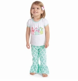 Mud Pie Baby-Infant Toddler Girl's Bunny Tunic and Legging Set