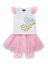 Mud Pie Baby-Infant Toddler Girl's Little Chick Skirt Set