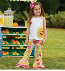 Mud Pie Baby-Infant Toddler Girls Tutti Frutti Pant Set - SOLD OUT