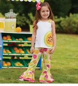 Mud Pie Baby-Infant Toddler Girls Tutti Frutti Pant Set