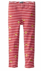 Mud Pie Baby or Girls Stripe Dot Holiday Leggings