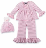 Mud Pie Baby Take Me Home Pant Set with Hat