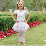 Mud Pie Baby-Toddler Bunny Pom Pom Tutu Set - SOLD OUT