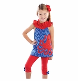 Mud Pie Baby-Toddler Girl's Octopus Tunic and Capri Set
