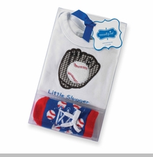 Mud Pie Newborn Boys Baseball Baby Gift Set 0-6 months - sold out