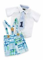 Mud Pie Birthday Boy's I'm One or I'm Two Suspender Set