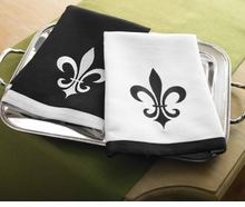 Mud Pie -Black and White Linen Towel Set - SOLD OUT