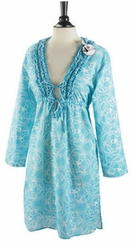 Mud Pie Blue Starfish TUNIC Dress Top Cover Up - sold out