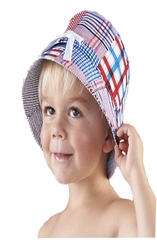 Mud Pie Boathouse Baby Madras Crab Sun Hat - SOLD OUT
