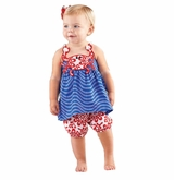 Mud Pie Boathouse Girl's Crab Short Set