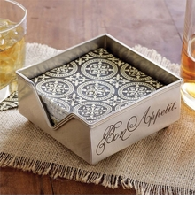 Mud Pie BON APPETIT NAPKIN HOLDER