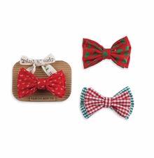 Mud Pie Boy's Clip On Bow Tie: Multi Colored Boy's Holiday Bow Ties - SOLD OUT