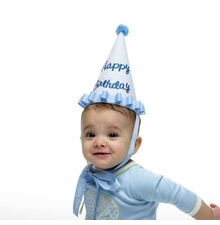 Mud Pie- Boy's Seersucker Birthday Hat - out of stock