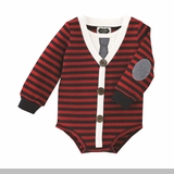 Mud Pie Boys Stripe Cardigan Crawler