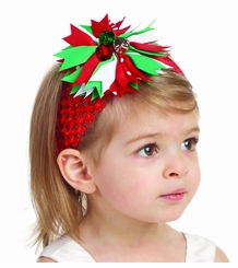 Mud Pie Christmas Multi Color Jingle Bell Headband