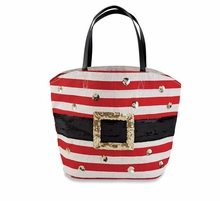 """Mud Pie Christmas Tote Bag  """"Santa Face"""" only"""