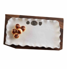 Mud Pie FLEUR DE LIS HOSTESS PLATTER