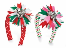 Mud Pie Girl's Holiday Headband: Multi Color Jingle Bell Gir's Headband
