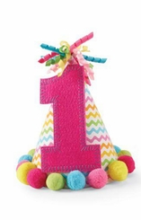 """Mud Pie Girl's Pink """"I'm One"""" Party Hat  sold out"""