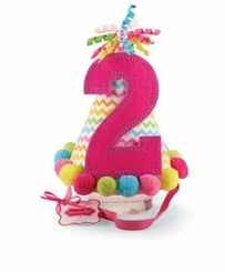 """Mud Pie Girl's Pink """"I'm Two"""" Party Hat - OUT OF STOCK"""