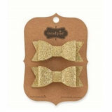 Mud Pie Girls Gold Bow Sparkle Hair Clips - SOLD OUT