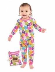 Mud Pie Girls Owl Lounge Set   - sold out