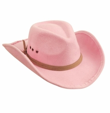 Mud Pie Girls Pink Cowboy Hat